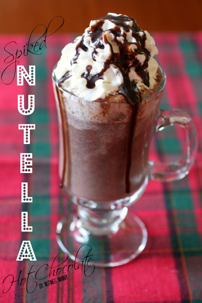 This spiked Nutella hot chocolate is packed full of Nutella flavor and just a touch of toasted marshmallow vodka. This is the best way to keep warm at night.