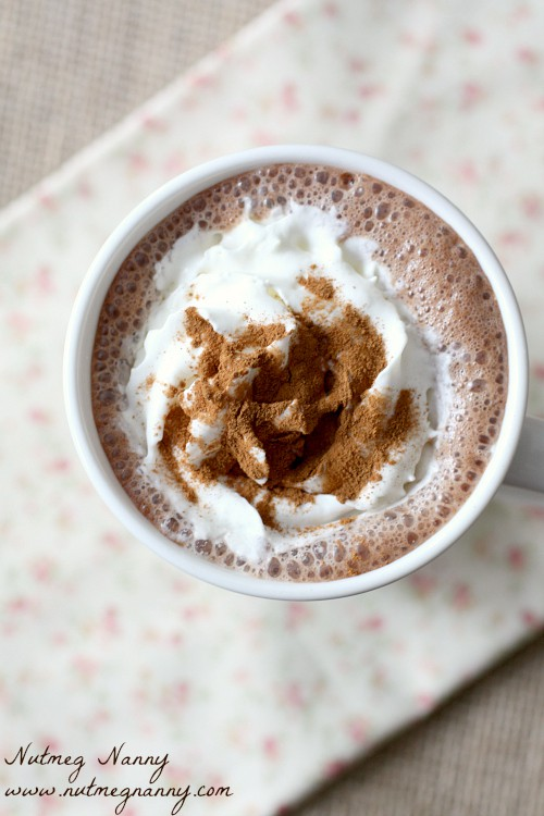 This sweet and creamy Vitamix hot chocolate is ready in just about 5 minutes and is completely made in your Vitamix. This is the best hot chocolate ever!