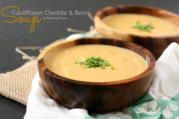 This super creamy cauliflower cheddar beer soup is packed full of flavor and is perfect for cool weather. In an hour you can go from hungry to full.