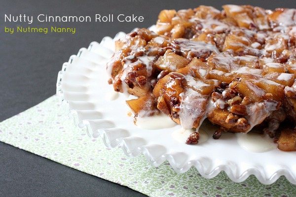 Nutty Cinnamon Roll Apple Cake by Nutmeg Nanny
