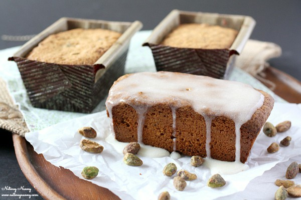 This pistachio pound cake is PACKED full of pistachios and made with white whole wheat flour. If you love nuts this pound cake is calling your name!