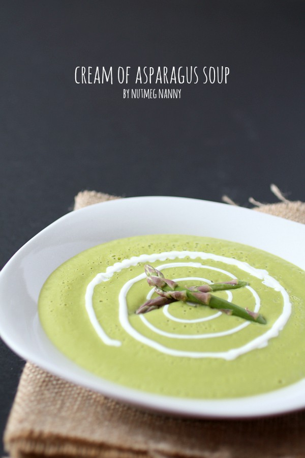 Cream of Roasted Asparagus Soup by Nutmeg Nanny {Made in the #Vitamix!}