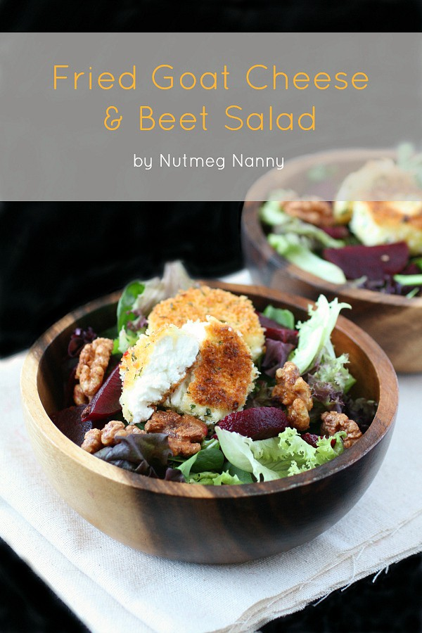 Fried Goat Cheese Beet Salad by Nutmeg Nanny
