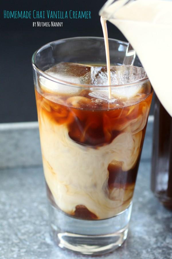 Homemade Vanilla Chai Creamer by Nutmeg Nanny