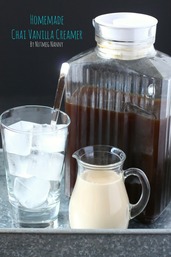 This quick and easy homemade vanilla chai creamer is the perfect addition to your coffee. You won't believe how easy it is to make your own coffee creamer!