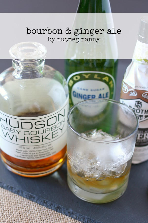 This bourbon and ginger ale cocktail is super simple and a fun twist to your usual straight up bourbon. If you're feeling spicy you can add in ginger beer instead of ginger ale. Don't forget to add in the bourbon barrel aged bitters for an extra dash of flavor!