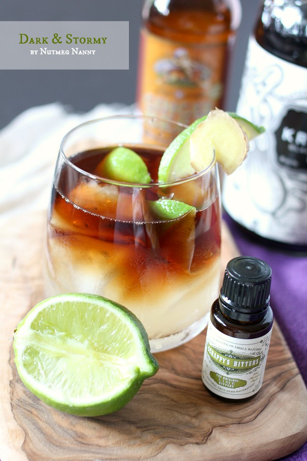 This classic dark and stormy is the perfect summertime cocktail. Packed full of dark rum, lime, lime bitters and super spicy ginger beer. It's refreshing and tropical all at the same time. Don't skimp on getting yourself a good bottle of ginger beer - totally worth it!