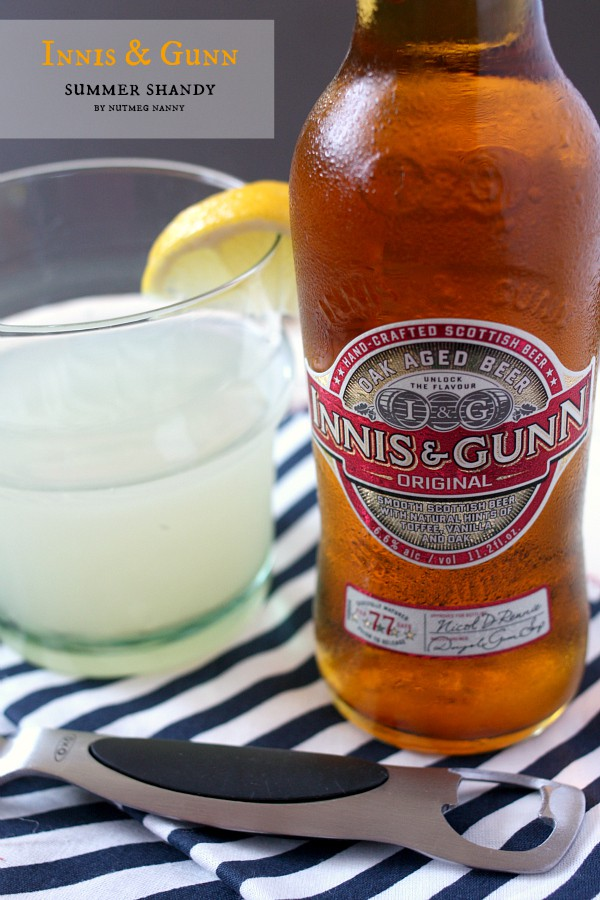 This Innis & Gunn summer shandy takes delicious oak aged beer and combines it with sweet and tangy lemonade. So refreshing and perfect for summertime sipping!