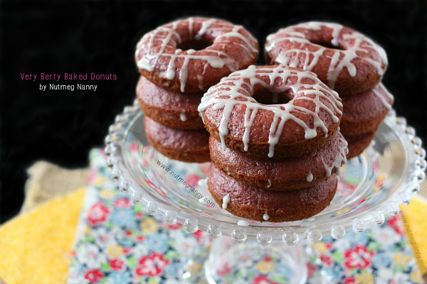 Very Berry Baked Donuts with Nutmeg Nanny