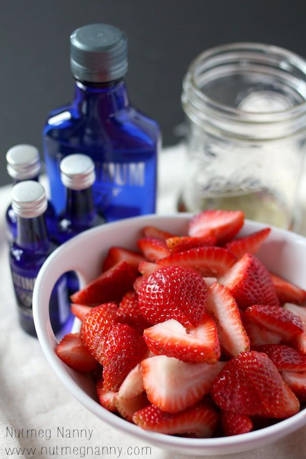 Homemade Strawberry Vodka Lemonade by Nutmeg Nanny
