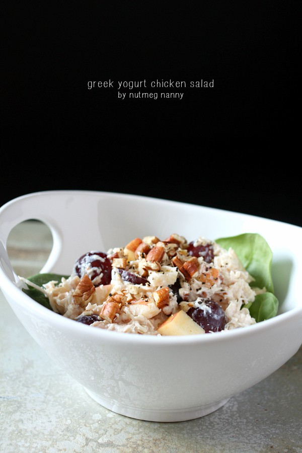 Greek Yogurt Chicken Salad by Nutmeg Nanny