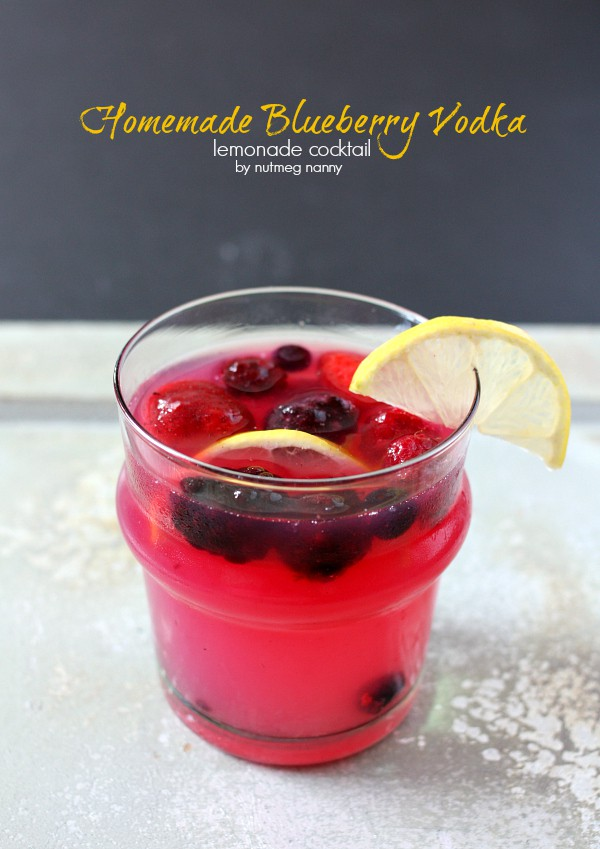 This homemade blueberry vodka stars perfectly in this refreshing lemonade cocktail. So easy to make and perfect for summertime sipping! You'll love this!