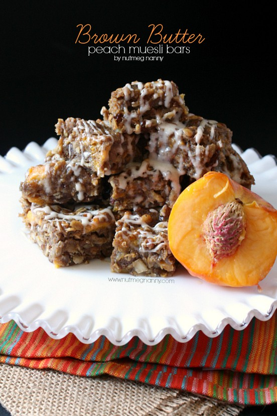 These brown butter peach muesli bars are the perfect way to start your day. Fresh fruit paired with nutty brown butter and gluten free muesli. What more could you want?These brown butter peach muesli bars are the perfect way to start your day. Fresh fruit paired with nutty brown butter and gluten free muesli. What more could you want?