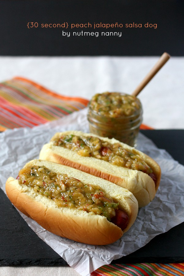 {30 second} Peach Jalapeño Salsa Dog by Nutmeg Nanny