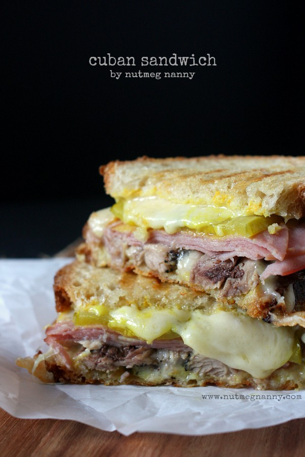 This fresh pressed Cuban sandwich is made using homemade crispy pork, ham, pickles, mustard and swiss cheese. It's perfect for lunch or dinner.