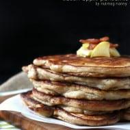 Bacon Apple Pancakes by Nutmeg Nanny