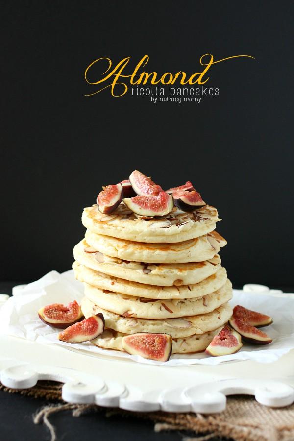 Almond Ricotta Pancakes by NutmegNanny.com