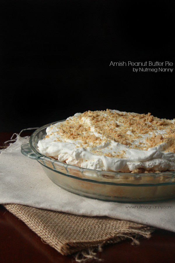 Amish Peanut Butter Pie by Nutmeg Nanny