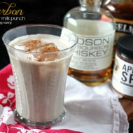 Bourbon Apple Butter Milk Punch by Nutmeg Nanny