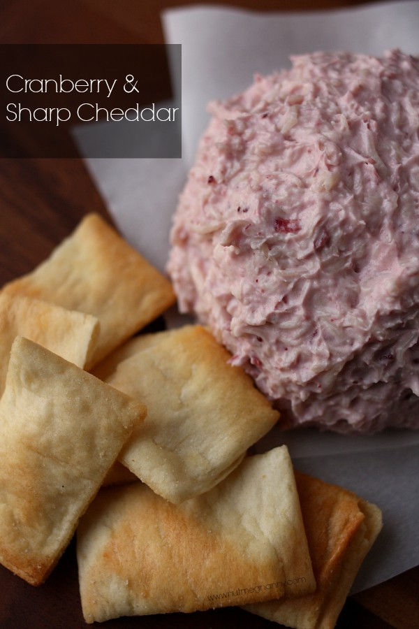 Cheese Balls Three Ways by Nutmeg Nanny {Cranberry & Sharp Cheddar}