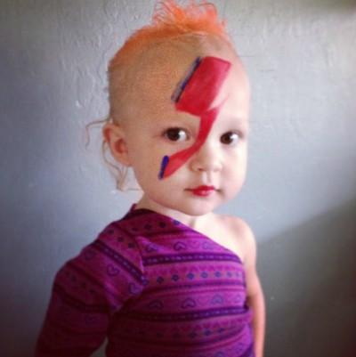David Bowie Halloween via Nutmeg Nanny