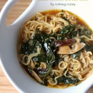 This hearty shiitake mushroom and kale ramen is perfect for cold winter days. Packed full of vegetable stock, shiitake mushrooms, kale and ramen noodles.