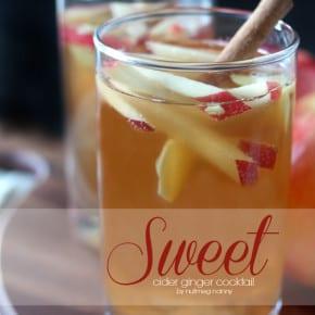 Sweet Cider Ginger Cocktail by Nutmeg Nanny