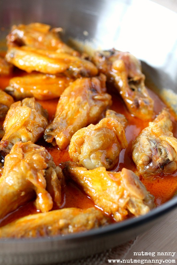 Baked Garlic Buffalo Chicken Wings by Nutmeg Nanny