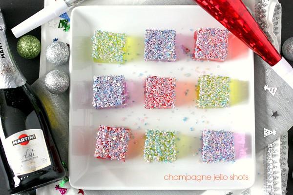 Champagne Jello Shots via Nutmeg Nanny