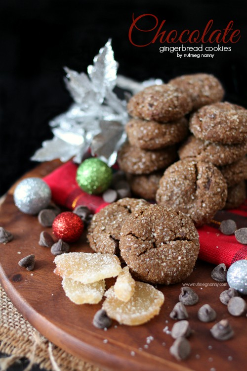 The chocolate gingerbread cookies are the perfect combination of Christmas flavors. Slightly chewy with a crunchy bite you'll love all the ginger flavor packed into these beauties.