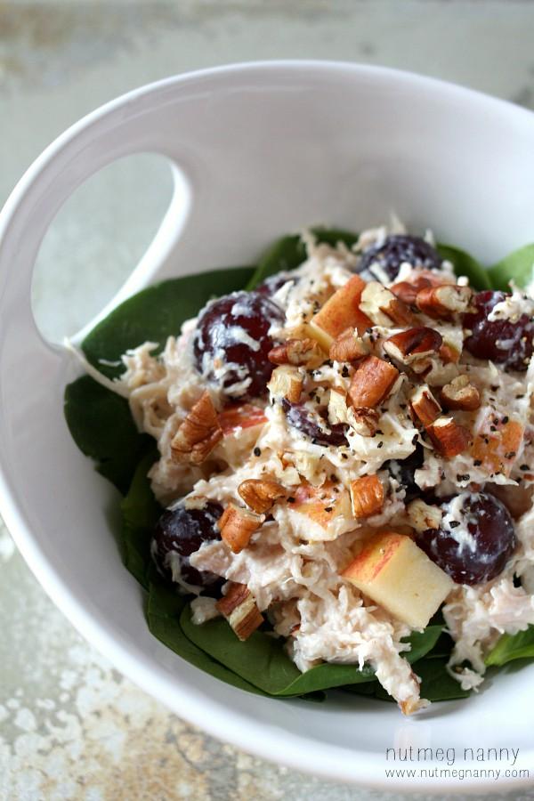 Greek Yogurt Chicken Salad by Nutmeg Nanny