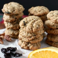 Orange Cherry Oatmeal Pecan Cookies by Nutmeg Nanny