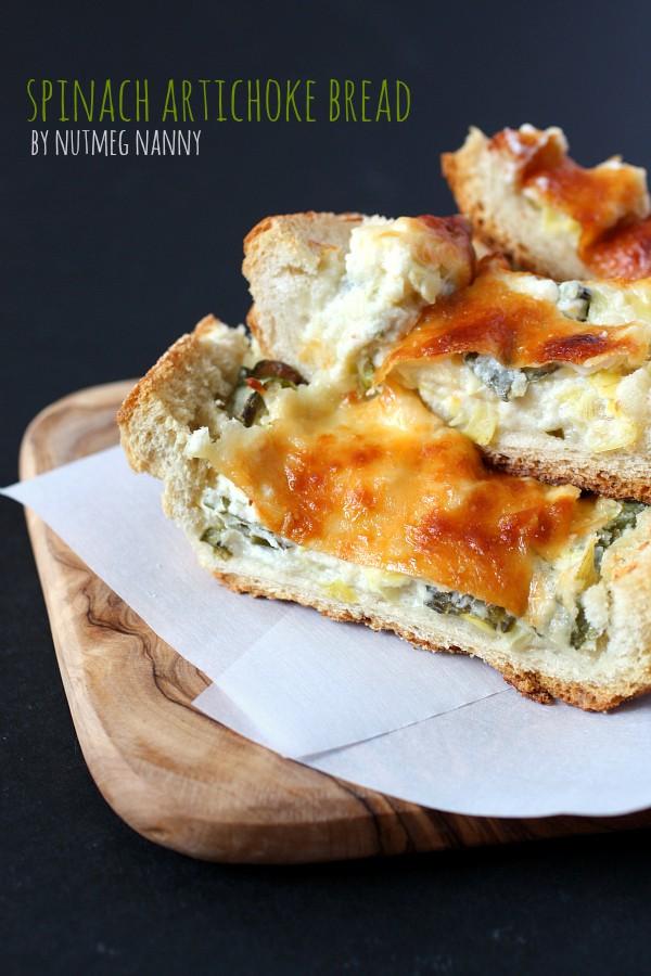 Spinach Artichoke Bread by Nutmeg Nanny