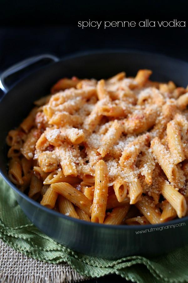 Spicy Penne Pasta With Vodka Cream Sauce. pasta :D