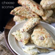 Ham and Cheese Scones by Nutmeg Nanny