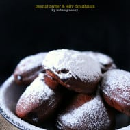 Peanut Butter and Jelly Doughnuts by Nutmeg Nanny