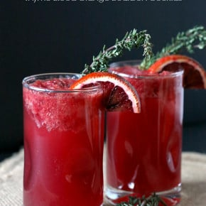 Thyme Blood Orange Bourbon Cocktail by Nutmeg Nanny