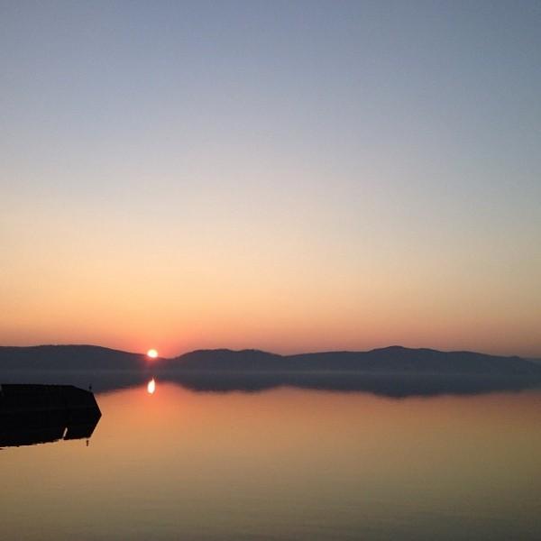 Sunset in Croton-on-Hudson {Nutmeg Nanny}