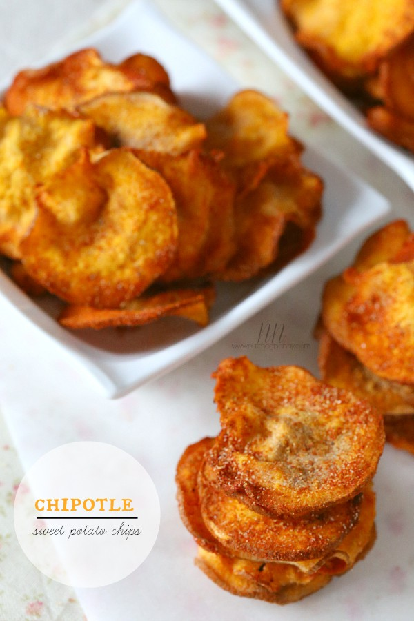 These microwave chipotle sweet potato chips are ready in no time and cook crispy in the microwave. Dust with a homemade chipotle spice blend and enjoy!