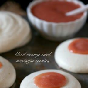 Blood Orange Curd Meringue Cookies by Nutmeg Nanny