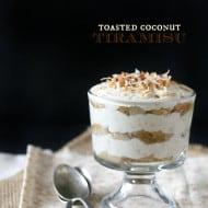 Toasted Coconut Tiramisu by Nutmeg Nanny