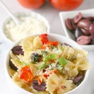 {20 Minute} Kalamata Olive, Tomato and Caper Pasta by Nutmeg Nanny