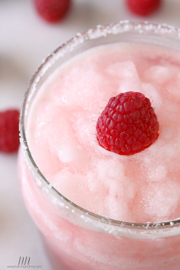 Raspberry Acai Frozen Margarita by Nutmeg Nanny
