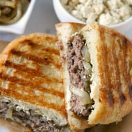 Smoked Blue Cheese Patty Melts by Nutmeg Nanny