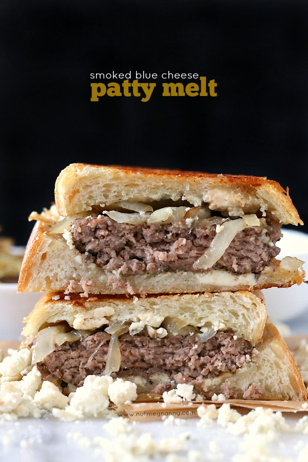 ... blue cheese patty melt this smoked blue cheese patty melt is
