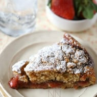 Strawberry Rhubarb Coffee Cake Recipe by Nutmeg Nanny