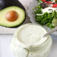 Dairy Free Avocado Ranch Dressing by Nutmeg Nanny