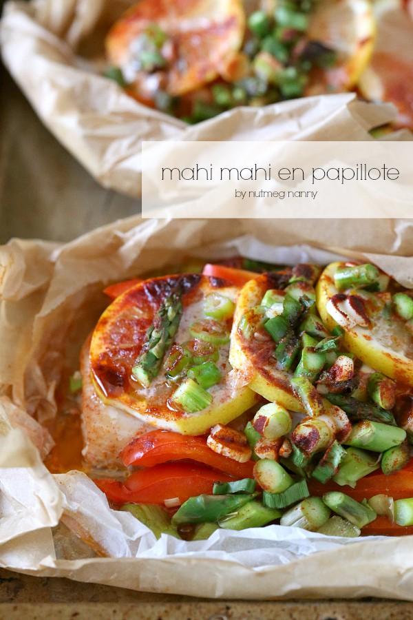 Mahi Mahi En Papillote by Nutmeg Nanny