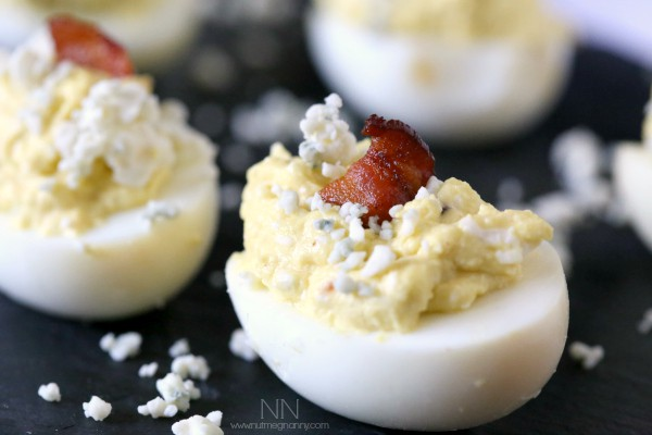 These bacon blue cheese deviled eggs are the perfect BBQ addition. Full of flavor and packed full of crispy bacon. What's not to love?