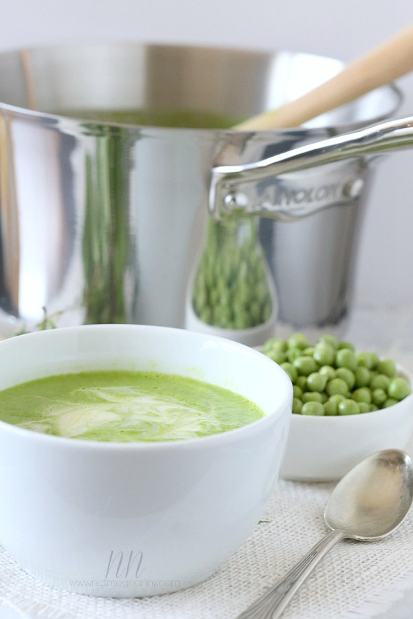 Spring Pea Soup by Nutmeg Nanny #KitchenCreativity